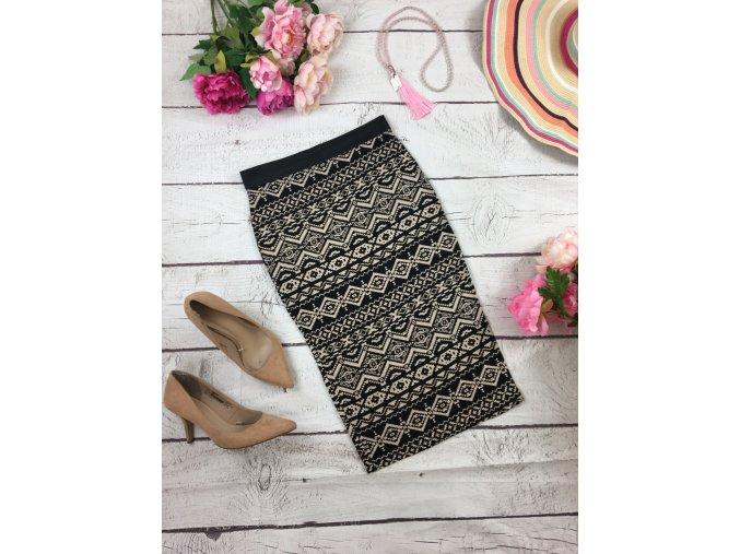 Přiléhavá sukně s indiánským vzorem Select