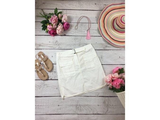 Bílá sportovní sukně