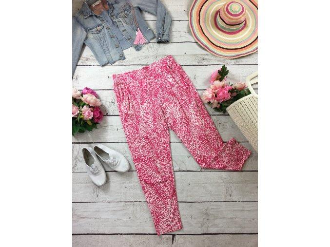 Růžovo-bílé letní kalhoty M&S