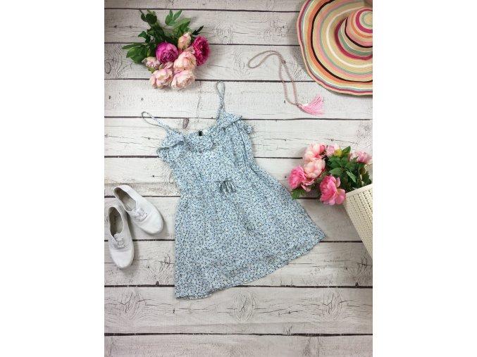 Světle modré letní šaty H&M