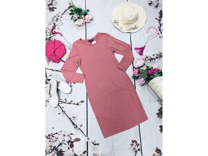 Růžové basic šaty Primark
