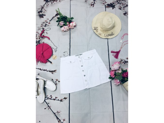 Bílá krátká sukně Primark