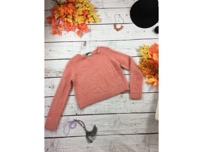 Chlupatý starorůžový svetr