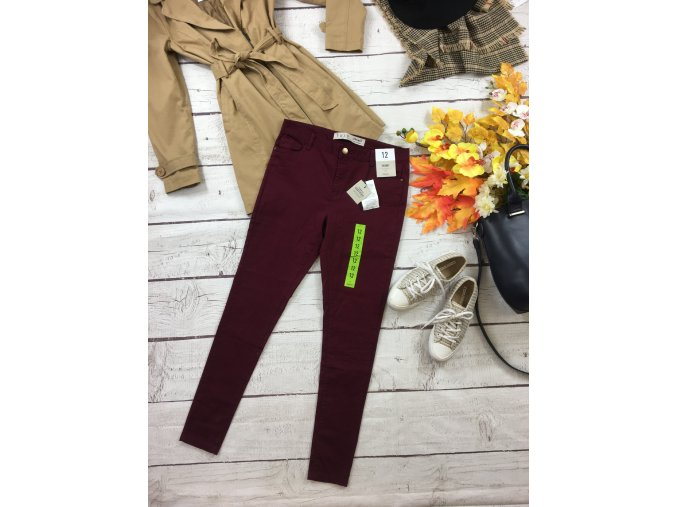 Vínové kalhoty Primark NOVÉ