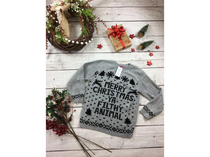 Šedý vánoční svetr Boohoo