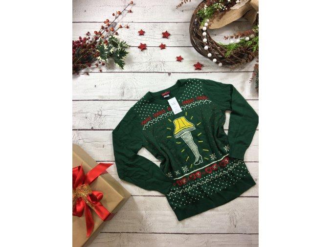 Zelený vánoční svetr fragile