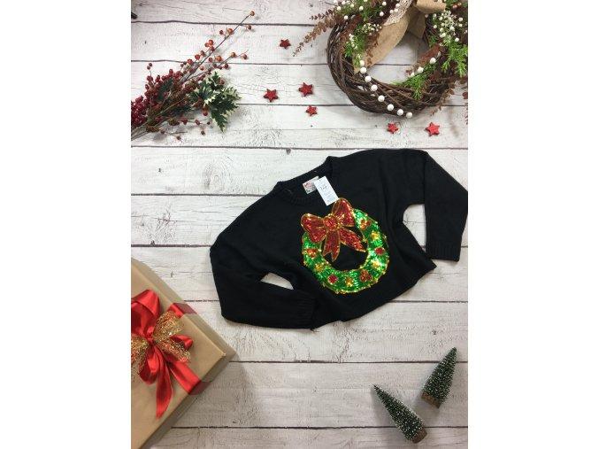 Vánoční svetr s věncem Atmosphere