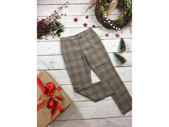 Béžové kostkované kalhoty M&S