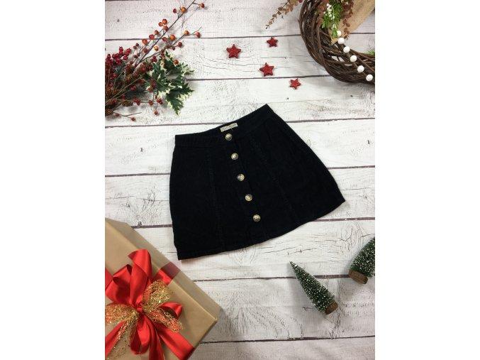 Černá manšestrová sukně Primark