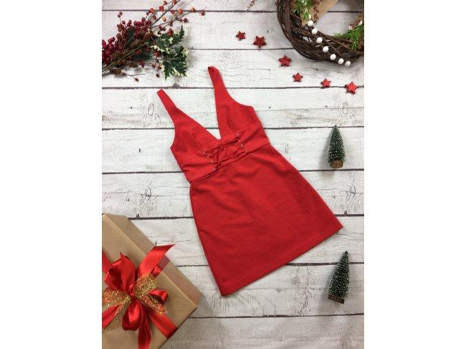 Červené šaty Zara