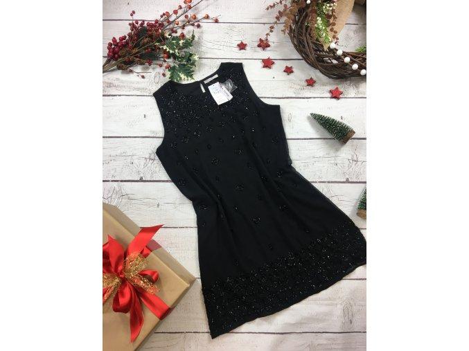 Černé šaty s korálky George NOVÉ