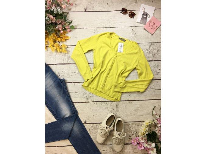 Žlutý propínací svetr Zara