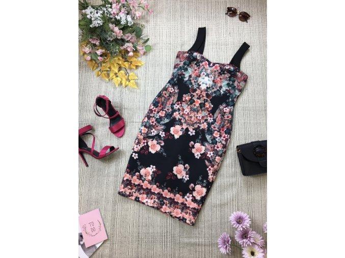 Květované pouzdrové šaty Star