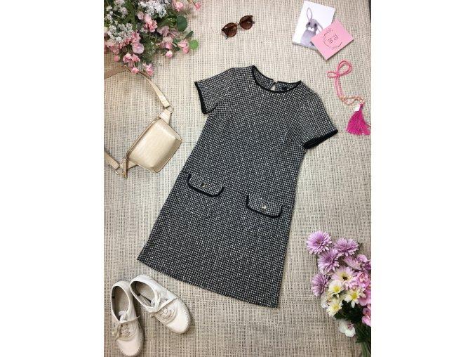 Černo-balí mini šaty