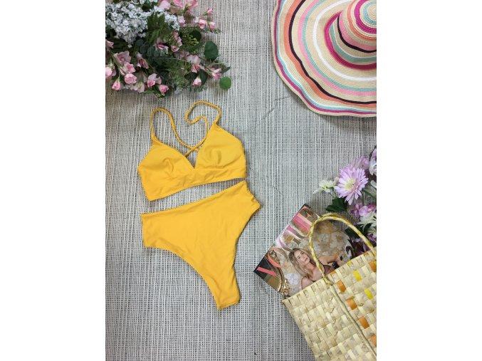 Dvoudílné žluté plavky