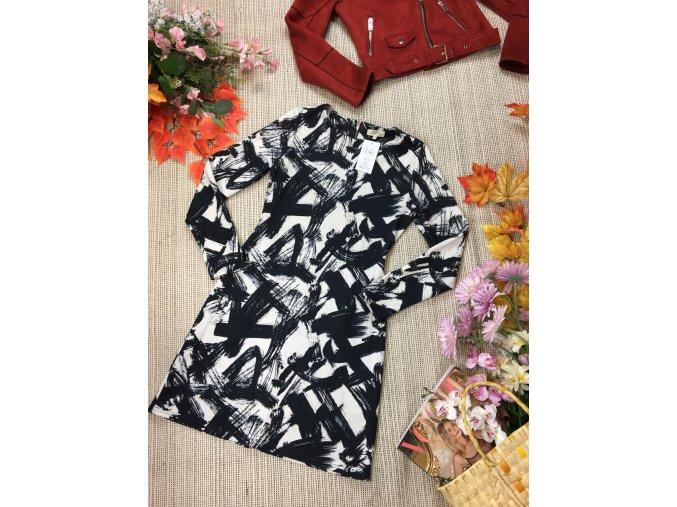 Černo-bílé šaty Papaya
