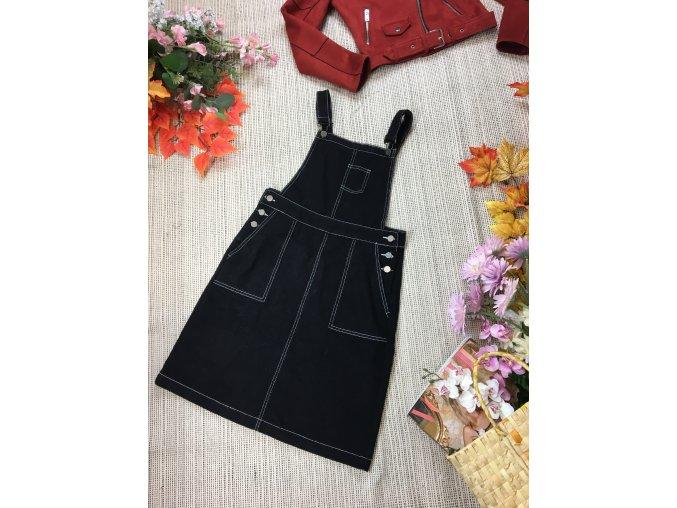 Černá laclová sukně TU