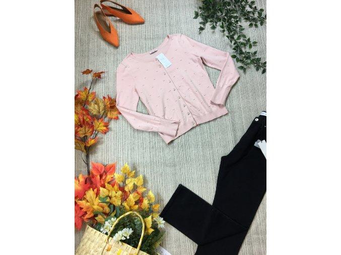 Světle růžový svetřík Orsay