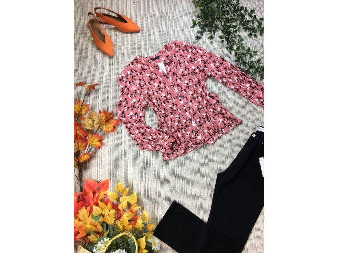 Růžová halenka s květy M&S
