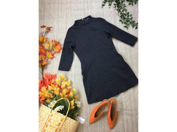 Modro-šedé šaty Next