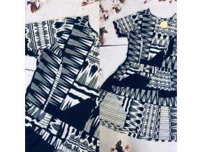 Černobílé šaty se vzorem INFLUENCE