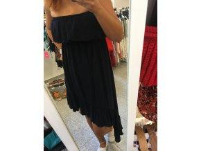 Tmavě modré šaty s volány SUNNY GIRL