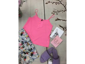 +Zářivě růžové tílko H&M