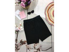 Teplákové černé šortky