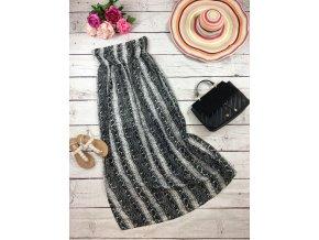 Dlouhé šaty s hadím vzorem