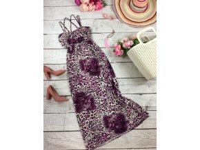 Dlouhé šaty s tygrovaným vzorem