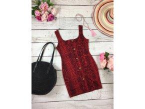 Červené šaty s hadím vzorem Boohoo