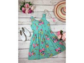 Mintové šaty s květy George
