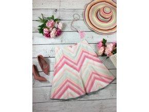 Áčková sukně s růžovými pruhy NEXT