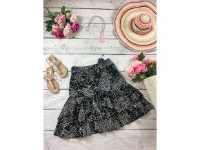 Černá sukně s kanýry Papaya