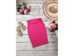 Růžová pouzdrová sukně