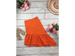 Oranžová bavlněná sukně Boohoo