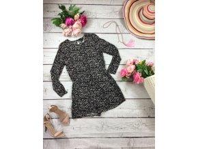 Černý overal s květy H&M