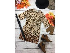 Lehké tygrované šaty Mango