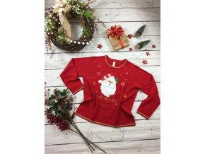 Červený vánoční svetr HO-HO-HO