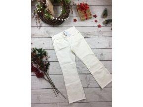 Bílé zvonové kalhoty Mango