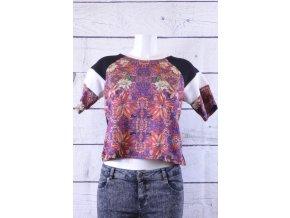 TOPSHOP barevné kratší tričko