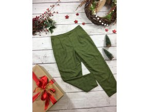 Zelené kalhoty Topshop