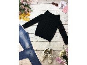 Pletený černý svetr Next