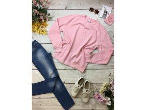 Růžová mikina