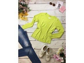 Žlutozelený svetr TU