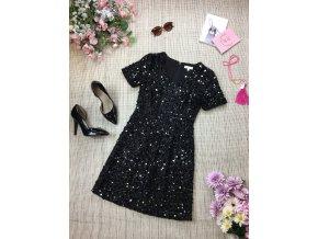 Černé flitrové šaty Warehouse