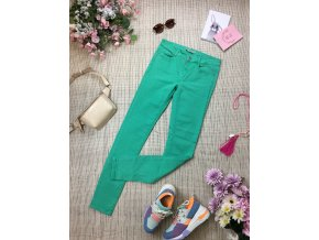 Zelené kalhoty Zara