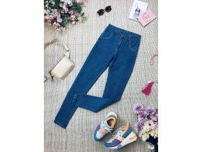Světlé džíny s vysokým pasem