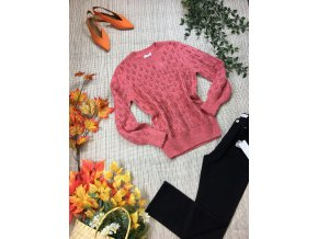 Růžový svetr Papaya
