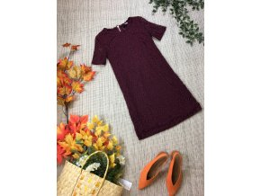 Vínové šaty s krajkou H&M